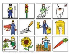 Povolání - co k sobě patří – (Mujblog.info v3.1) Toddler Crafts, Crafts For Kids, Card Games, Game Cards, Picture Boards, Eyfs, Speech And Language, Social Studies, Kindergarten
