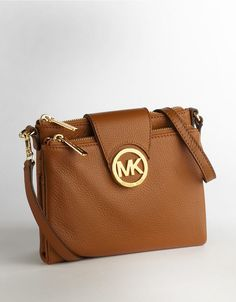 Michael Michael Kors Crossbody Leather Purse Luggage - I need this for Mexico!! Wedding gift from Me to Me :) http://thegoodbags.com/ ichael Kors Outlet Only $72 Value Spree 28 For Sale,I'm in love!