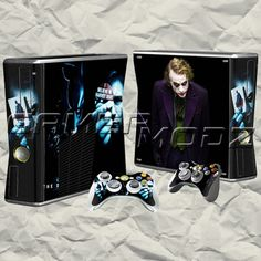 Harvey Dent XBOX 360 Skin Set - Console with 2 Controllers