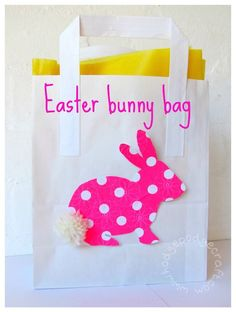 Hodge Podge / How to make a quick and easy Easter bunny bag