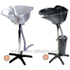 Silver shampoo chair portable shampoo bowl shampoo chair for Hairdressing salon furniture suppliers