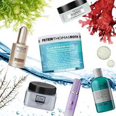Skin's favorite superfood: ALGAE! Definitely the most popular ingredient right now in skincare, studies have shown that algae can aid in the stabilization of minerals that aid in skin moisturization. What's your favorite seaweed infused product? #ErnoLaszlo Blue Firmarine Night Gel, #peterthomasroth Blue Marine Algae Intense Hydrating Mask, #Algenist Algae Brightening Mask, #Anthony Algae Facial Cleanser, #Tatcha Liminous Dewy Skin Mist, #Algenist Advanced Anti-Aging Repairing Oil