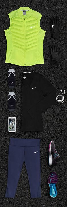 From laces to beats, the Nike Get-Out-Here Fit Kit has everything you need to start running — tights, shoes, tops and layers to keep you warm, but not too warm, and a playlist to set your speed.
