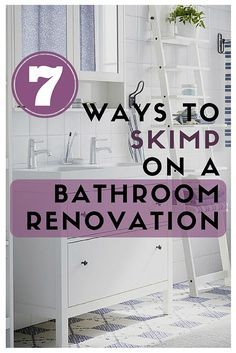 Remodeling a bathroom is an expensive project. But there are several ways you can save money without sacrificing design. Check bathroom renovation tips for 7 stellar money saving ideas.