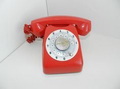 Vintage Retro Red 1960s Kanto Belphone Toy by JeweledLuv on Etsy, $14.99