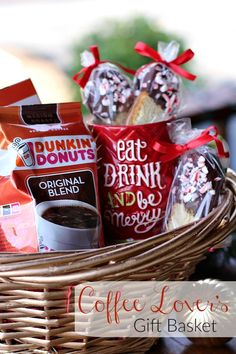 This Coffee Lover's Gift Basket is the perfect gift to help friends and families make the most of their special moments at home this holiday season! #DunkinToTheRescue #ad