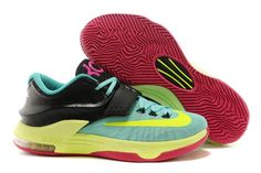 ... Turquoise/Pink/Rose/Black Nike KD Zoom Kevin Durant 7 Carnival Shoes ...