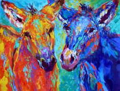 Nose to Nose oil painting by Barbara Meikle... I love this one!