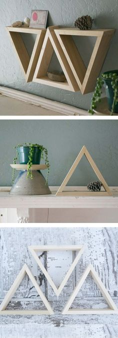 Triangle shelves // set of 3