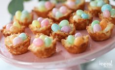 Coconut Macaroon Nests - a classic dessert recipe perfect for spring and Easter.