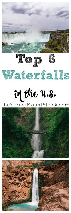 There is something majestic about waterfalls. So where can you find the most beautiful waterfalls in the US? Check out the top 6 waterfalls in the US via @debitalks