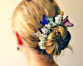 Snow White - Butterfly Bun Belt, flower crown for your hair bun. $20.00, via Etsy.