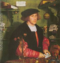 Portrait of the Merchant Georg Gisze Renaissance Hans Holbein the Younger Painting in Oil for Sale Renaissance Kunst, Renaissance Paintings, High Renaissance, Renaissance Portraits, Renaissance Fashion, Hans Holbein Le Jeune, Bode Museum, Hans Holbein The Younger, Great Paintings