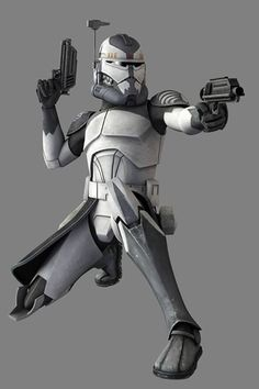 Clone Commander Wolffe (clone designation CC-3636) served under General Plo Koon in the Clone Wars, as commander of the tight-knit unit known as the Wolfpack.