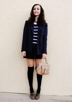 Kneesocks and Skirt.