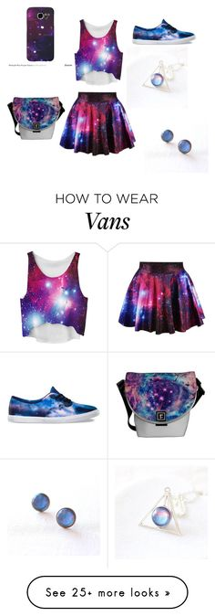 """Galaxy"" by sabrinaxli on Polyvore featuring Vans and Samsung  WHAT!? I LOVE EVERYTHING GALAXY."