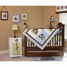 Pam Grace Creations Mr. And Mrs. Pond 3 Piece Portable Baby Crib Bedding Set FREE SHIPPING