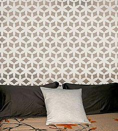 Kagami Allover Stencil  See more Geometric/Allover Stencils: http://www.cuttingedgestencils.com/wall-stencils-geometric-stencils.html  #geometric #allover #stencils