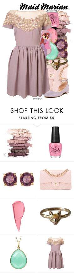 """Maid Marian"" by amarie104 ❤ liked on Polyvore featuring OPI, Carolee, Chanel, Disney, Edition and Franco Sarto"