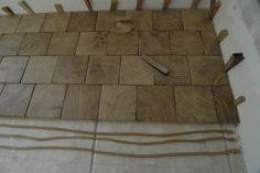 Freaking neat ass flooring! Wood blocks :)