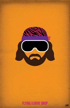 WWF Legends Minimalist Poster  'Macho Man Randy by BAMitsBernie, $20.00
