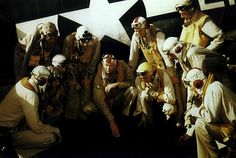"""Paul Buie, CO of coaches his pilots in a USN staged photo. Rear Admiral, Ww2, Victorious, Aviation, Coaches, Pilots, History, Pictures, Painting"