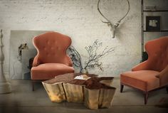 How to make your interiors have an urban look with unusual furniture-Brabbu SEQUOIA center table Contemporary Home Furniture, Unusual Furniture, European Furniture, Luxury Furniture, Loft Furniture, Handmade Furniture, Furniture Design, Table Furniture, Luxury Interior