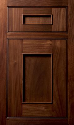 Austere door done in Walnut Sienna   Like the simplicity, not so much the grain