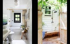 Homes — Roman and Williams White Bathroom, Bathroom Interior, Roman And Williams, Sea Ranch, Shower Fixtures, Beach Cottage Style, Beach House, Weekend House, World Of Interiors