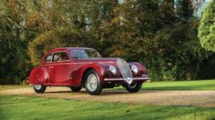 """High bid of €1,800,000 ($2,563,000)Known as the """"Mussolini Mistress"""", this 1939 Alfa Romeo 6C2500 so... - Tom Wood courtesy of RM Auctions"""