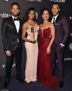 Famous actress Grace Gealey, best known for her role in the Empire TV series, wore a high-fashion CRISTALLINI pure silk gown at The Annual Golden Globes Grace Gealey, Empire Cast, Empire Fox, Golden Globes After Party, Jussie Smollett, Pink Gowns, Bridesmaid Dresses, Wedding Dresses, Beautiful Gowns