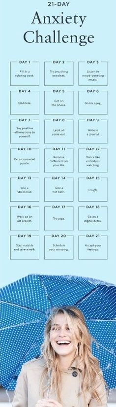 The 21-Day Anxiety Challenge: Take Control of Your Nerves And Stay Positive – FIT/NSTANTLY