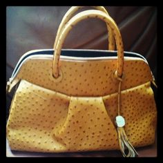 Furla Ostrich Leather Bag
