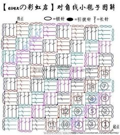 Best 12 best Ideas for crochet bag chart free pattern tutorials Granny Square Häkelanleitung, Granny Square Crochet Pattern, Crochet Diagram, Crochet Stitches Chart, Crochet Motifs, Free Crochet, Baby Blanket Crochet, Crochet Baby, Knitting Patterns