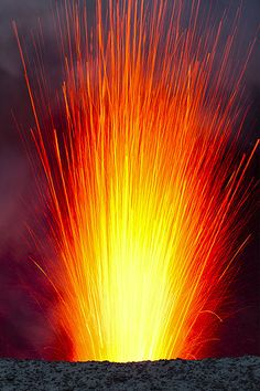 Yasur Volcano erupting, Tanna Island, Vanuatu by Tom Pfeiffer on Flickr.