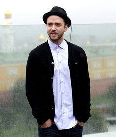Justin Timberlake promoted Runner, Runner during a soaking-wet day in Moscow, Russia.