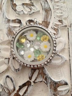 I would love one of these retired Daisy charms if anyone has one. Celebrate the Summer with an Origami Owl Living Locket.
