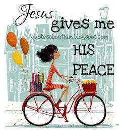Free christian card: Jesus gives me peace