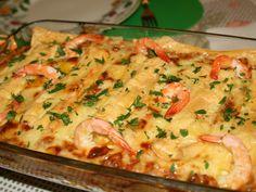 Shrimp Lasagna by vitafla Prawn Recipes, Chef Recipes, Seafood Recipes, Pasta Recipes, Food C, Good Food, Sea Food, Quiche, Food Porn