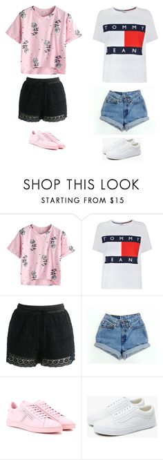 """UnTiTLeD #48"" by katie-lovebug on Polyvore featuring Tommy Hilfiger, Chicwish, Tod's and Vans"