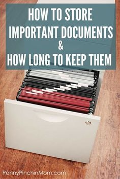 Ever wonder how to keep track of those important papers? Or, not sure if you can actually toss them out? Get the details on how to store important documents and how long to keep them!
