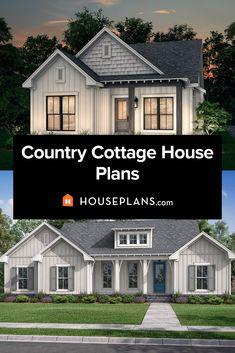 Looking for country cottage style? Or love the popular cottagecore style? Then check out our country cottage plans collection. Questions? Call 1-800-913-2350 today. #blog #architecture #modern #bungalow #architect #architecture #buildingdesign #country #craftsman #houseplan #homeplan #house #home #homeblog Cottage House Plans, Country House Plans, Cottage Homes, Cottage Style, Cottage House Designs, Modern Bungalow, Open Layout, Modern Farmhouse Kitchens, Cool Countries