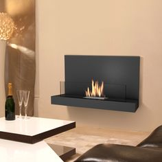 Imagin Fires Amero Bio-Ethanol Real Flame Fireplace