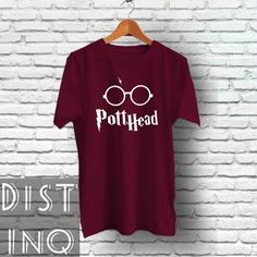 Pott Head Harry Potter inspired Tee  Screen by DistinQStyle Tops & Tees Handmade Clothing Gift ideas for her and for him on Etsy, Etsy Finds Harry Potter T Shirt Tshirt Shirt
