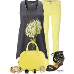 Sunflower/Tie One On Contests, created by amybwebb on Polyvore