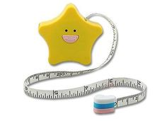 Cheap Thrill: Yellow Star Mini Tape Measure