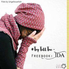 Freebook TopTillToe – Ida - Beaniemütze, Schal und Handstulpen