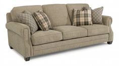 Shop for Flexsteel Fabric Sofa, and other Living Room Sofas at Schmitt Furniture Company in New Albany, IN. Broyhill Bedroom Furniture, Living Room Furniture Sale, Living Room Sofa, Living Room Decor, Deep Couch, Microfiber Sofa, Retro Sideboard, Couch Cushions, Living Room Remodel