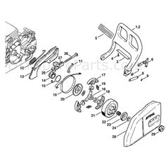 Stihl MS 180 Chainsaw (MS180C-B D) Parts Diagram, Quick