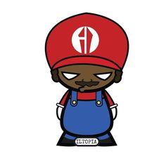 Roscoe as the legendary plumber #iltopia #halloween #cosplay #blackheroesmatter #blacklivesmatter #mario #nintendo #luigi